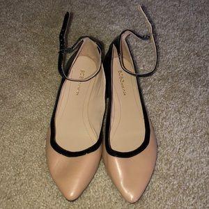 BCBG ankle strap flats size 7.5